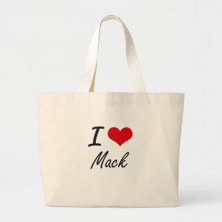 I Love Mack Jumbo Tote Bag