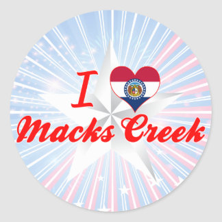 I Love Macks Creek, Missouri Round Sticker