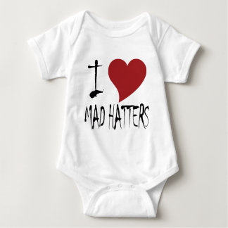 I Love Mad Hatters Baby Bodysuit