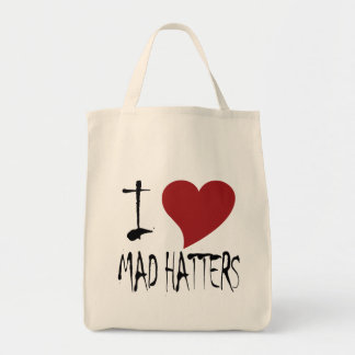 I Love Mad Hatters Tote Bag