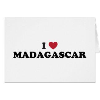 I Love Madagascar Greeting Card
