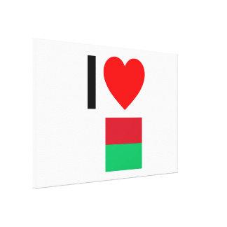 i love madagascar stretched canvas print