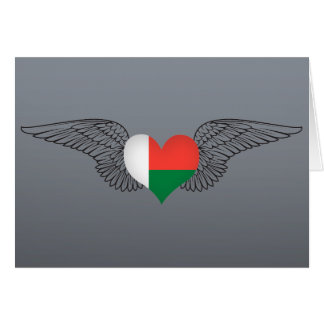 I Love Madagascar -wings Greeting Cards