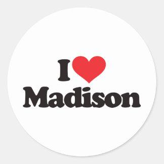 I Love Madison Classic Round Sticker