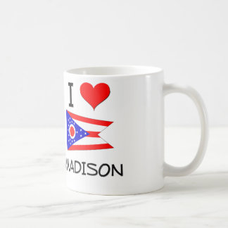 I Love Madison Ohio Basic White Mug