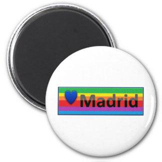 I Love Madrid 6 Cm Round Magnet