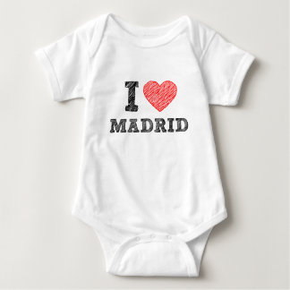 I Love Madrid Baby Bodysuit