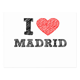 I Love Madrid Postcard