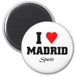 I love Madrid, Spain Refrigerator Magnets