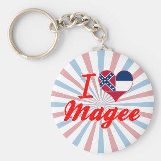 I Love Magee Mississippi Key Chain