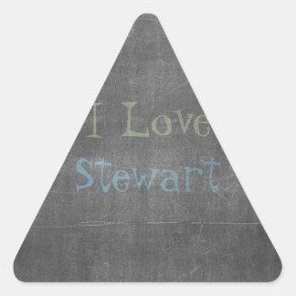 I love magic chalkboard triangle sticker
