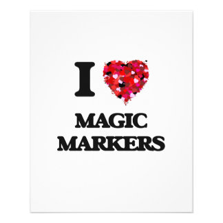 I Love Magic Markers 11.5 Cm X 14 Cm Flyer