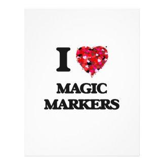 I Love Magic Markers 21.5 Cm X 28 Cm Flyer