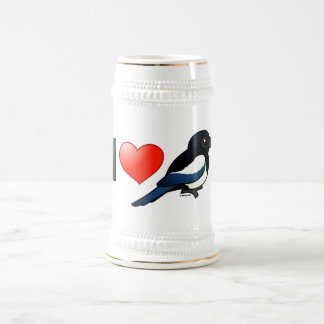 I Love Magpies Beer Stein