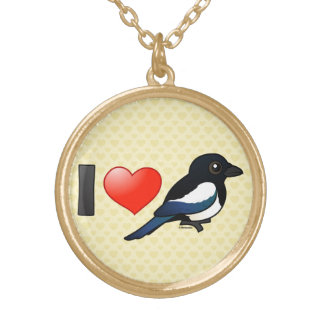 I Love Magpies Necklaces