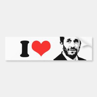 I Love Mahmoud Ahmadinejad Bumper Stickers