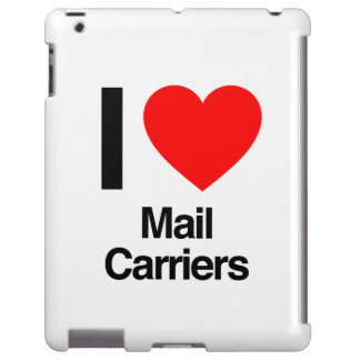 i love mail carriers iPad case