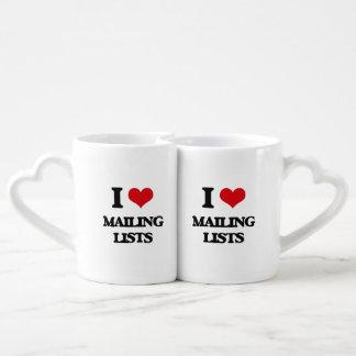 I Love Mailing Lists Lovers Mug Set