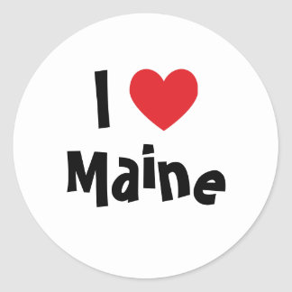 I Love Maine Classic Round Sticker