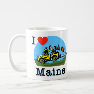I Love Maine Country Taxi Basic White Mug