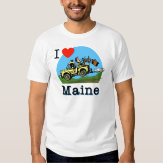 I Love Maine Country Taxi Tshirts