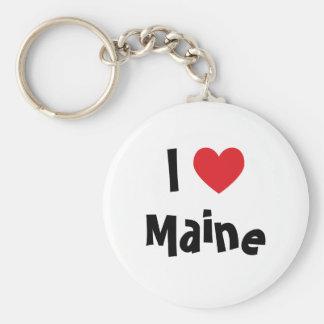 I Love Maine Key Ring
