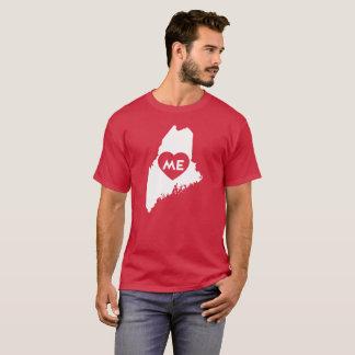 I Love Maine State (White) Men's Shirts