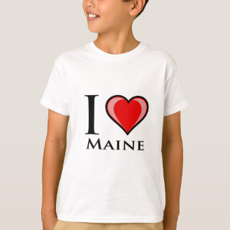 I Love Maine T Shirts