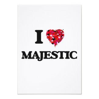 I Love Majestic 13 Cm X 18 Cm Invitation Card