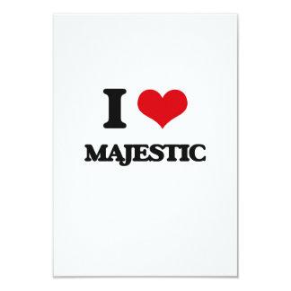 I Love Majestic Personalized Invitation