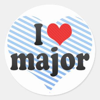 I Love major Sticker