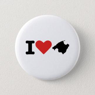 I love Majorca - Spain 6 Cm Round Badge