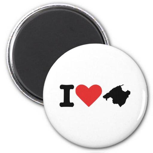 I love Majorca - Spain 6 Cm Round Magnet