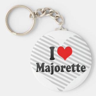 I love Majorette Basic Round Button Key Ring