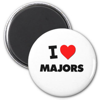 I Love Majors 6 Cm Round Magnet