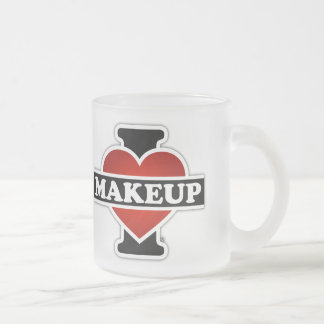 I Love Makeup Frosted Glass Mug