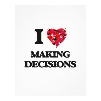 I Love Making Decisions 21.5 Cm X 28 Cm Flyer
