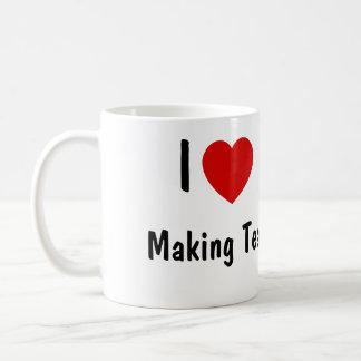 I Love Making Tea Basic White Mug