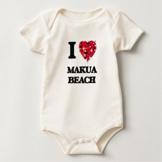 I love Makua Beach Hawaii Bodysuit