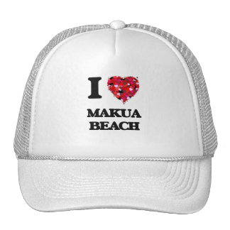 I love Makua Beach Hawaii Cap