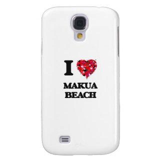 I love Makua Beach Hawaii Galaxy S4 Case