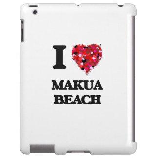I love Makua Beach Hawaii iPad Case