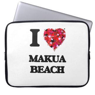 I love Makua Beach Hawaii Laptop Sleeve