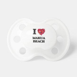 I love Makua Beach Hawaii Pacifier