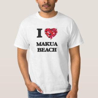 I love Makua Beach Hawaii T Shirt
