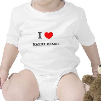 I Love Makua Beach Hawaii Baby Bodysuits