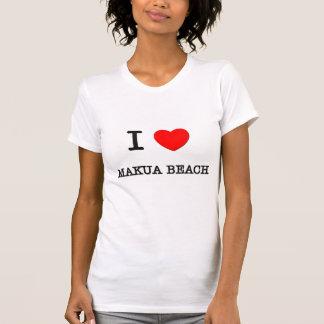 I Love Makua Beach Hawaii Tee Shirt