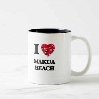 I love Makua Beach Hawaii Two-Tone Mug