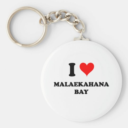 I Love Malaekahana Bay Hawaii Key Ring