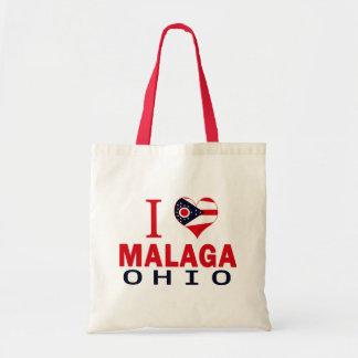 I love Malaga, Ohio Canvas Bag